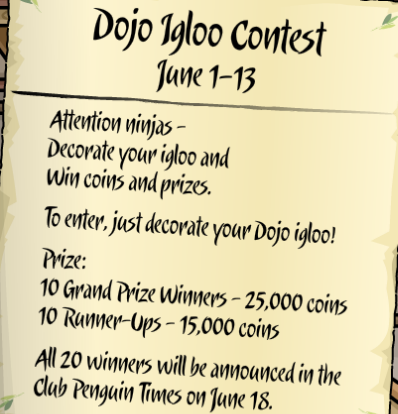 Dojo Igloo Contest
